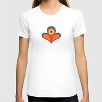 Betty's Garden Womens Fitted Tee White SMALL