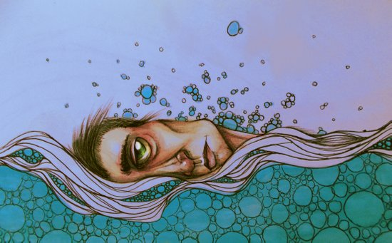 Floating On By Art Print