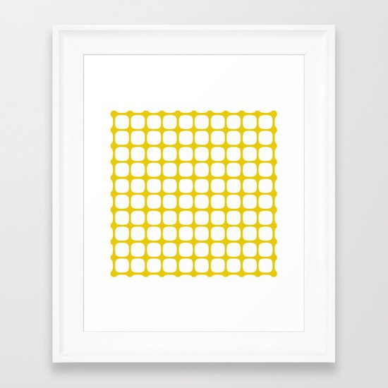 Franzen Yellow Framed Art Print