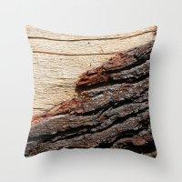 Wood Duo Throw Pillow