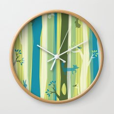 Woodland Stripe Wall Clock
