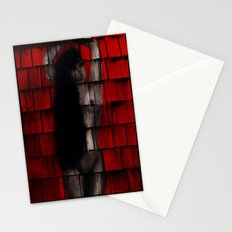 Washed Up And Left Out To Dry (Red no words) Stationery Cards