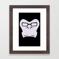 W-Monkey Framed Art Print