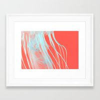 neon jelly Framed Art Print