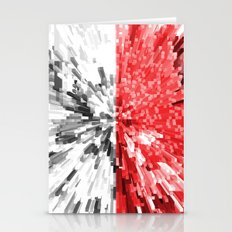 Indonesia Flag - Extrude Stationery Cards