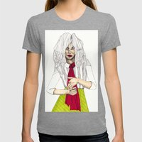 Fashion Illustration - P… Womens Fitted Tee Tri-Grey SMALL
