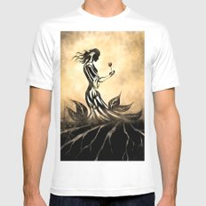 Woman in Gown Mens Fitted Tee White SMALL