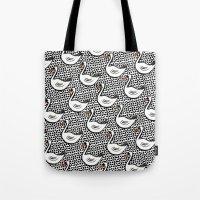 Graphic Swan Tote Bag