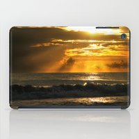 Golden Beach Sunset iPad Case