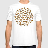 Papillons Mens Fitted Tee White SMALL