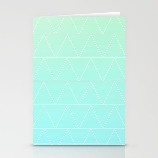 Mint Heaven Triangles Stationery Card