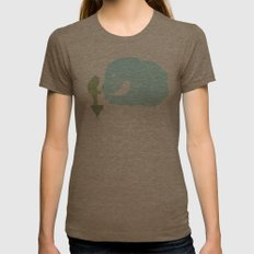 Green Womens Fitted Tee Tri-Coffee SMALL