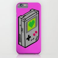 iPhone Cases featuring Gameboy Love by Artistic Dyslexia