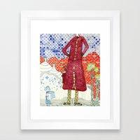 La madre Framed Art Print