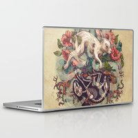 bunny Laptop & iPad Skins featuring Dust Bunny by Kate O'Hara Illustration
