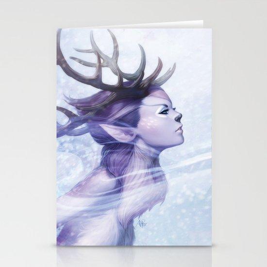 Deer Princess Stationery Card