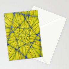 Spiral on Yellow Stationery Cards