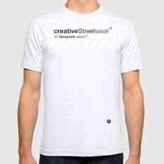 WhiteStripes Ash Grey Mens Fitted Tee SMALL