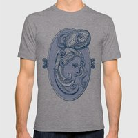 Octopus/girl in blue Mens Fitted Tee Athletic Grey SMALL