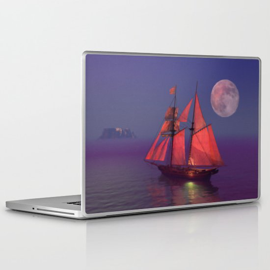 Where no breakers roar... Laptop & iPad Skin