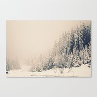 When It Is Winter, It Sn… Canvas Print