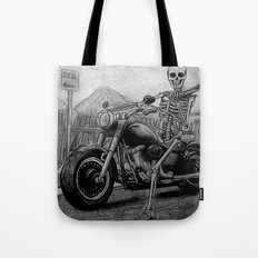 Skeleton Fat Boy Tote Bag