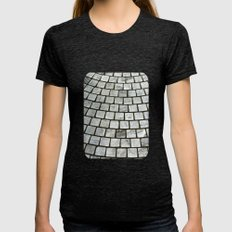 Paving Stones  Womens Fitted Tee Tri-Black SMALL
