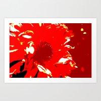 Waveternity Red2 Art Print