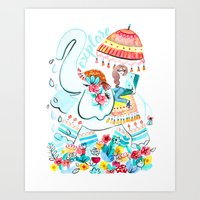 Explore Thai Elephant Tr… Art Print