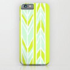 Stripes: Yellow & Pale Blue iPhone 6 Slim Case