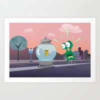 ALIEN TROUBLE Art Print