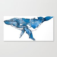A Whale Of A Time. Canvas Print