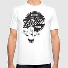 Genuine Tube Power White Mens Fitted Tee SMALL
