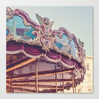 On the Piazza Canvas Print