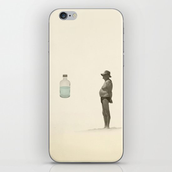 beach and a bottle iPhone & iPod Skin