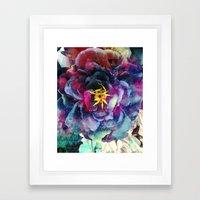 Purple Flower - Boho Framed Art Print