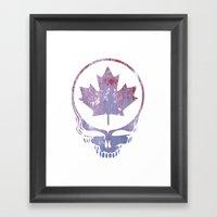 Canadian Steal Your Face (variation #3) Framed Art Print