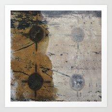 Modern abstract reflection ground Art Print