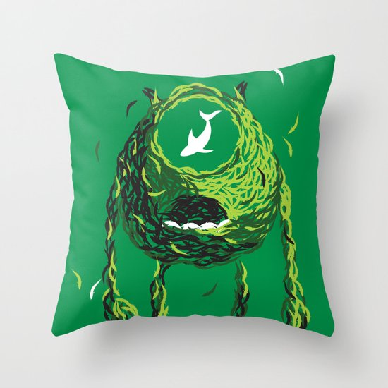 Wazowski of Fish Throw Pillow