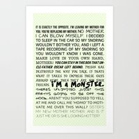 Various Buster Bluth Quo… Art Print