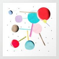 Lollypop Lolli Pop Kinder Art Print