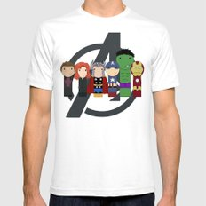 Assemble!  SMALL White Mens Fitted Tee
