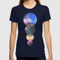 Echoes Womens Fitted Tee Navy SMALL