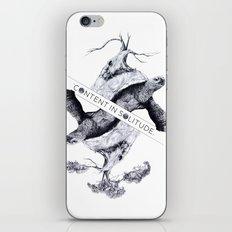 Content in Solitude iPhone & iPod Skin