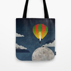 Picnic in a Balloon on the Moon Tote Bag