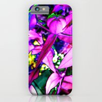 iPhone & iPod Case featuring Pink Altered Flowers by Chaos Gate Designs