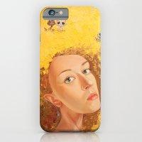 iPhone & iPod Case featuring Yellow Selfportrait  by Yulia Katkova