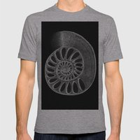 Gyre Black Mens Fitted Tee Athletic Grey SMALL