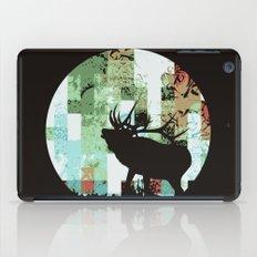 Woodland nursery deer wall decorative art print iPad Case