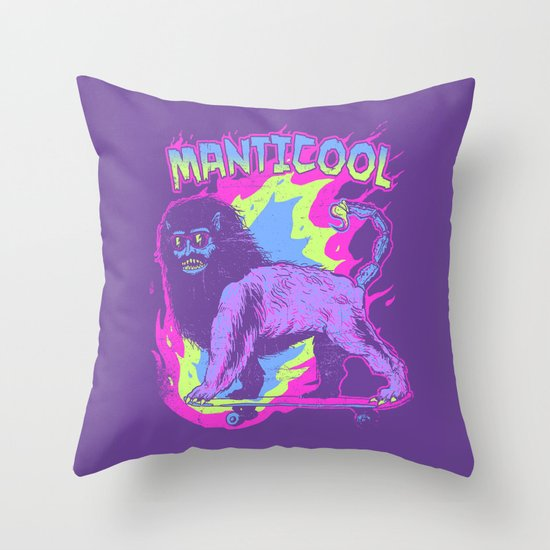 Manticool Throw Pillow